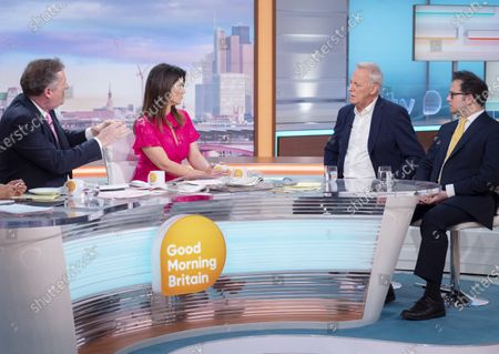Piers Morgan and Susanna Reid with Michael Barrymore and James Heath