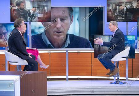 Piers Morgan and Susanna Reid with Adrian Dunbar