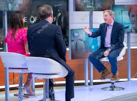 Stock Picture of Piers Morgan and Susanna Reid with Adrian Dunbar
