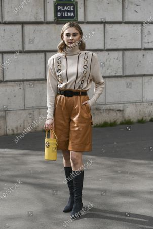 Editorial picture of Street Style, Fall Winter 2020, Paris Fashion Week, France - 03 Mar 2020