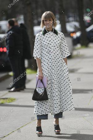 Editorial photo of Street Style, Fall Winter 2020, Paris Fashion Week, France - 03 Mar 2020