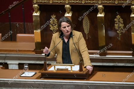 Valerie Rabault.  Deputies during a discussion about the constitution's article 49-3, to force its controversial pension overhaul through parliament.