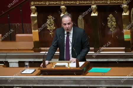 Jean-Christophe Lagarde.  Deputies during a discussion about the constitution's article 49-3, to force its controversial pension overhaul through parliament.