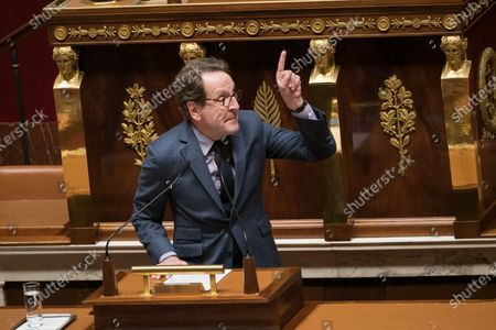 Gilles Le Gendre.  Deputies during a discussion about the constitution's article 49-3, to force its controversial pension overhaul through parliament.
