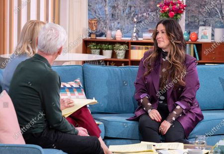 Phillip Schofield and Holly Willoughby with Alanis Morissette