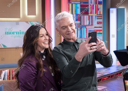 Stock Photo of Phillip Schofield with Alanis Morissette