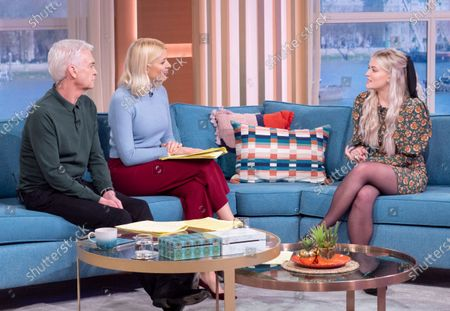Phillip Schofield and Holly Willoughby with Lucy Fallon