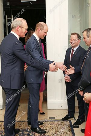 Prince William attends an event at the Museum of Literature with Simon Coveney, TD, Minister for Foreign Affairs and Trade