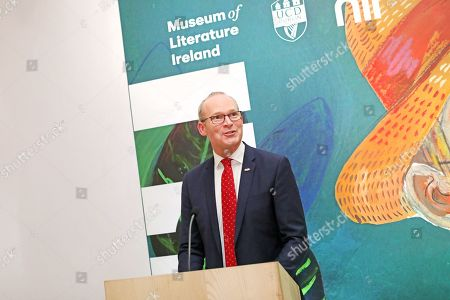 Simon Coveney, TD, Minister for Foreign Affairs and Trade speaks at an event at the Museum of Literature during the Royal visit.