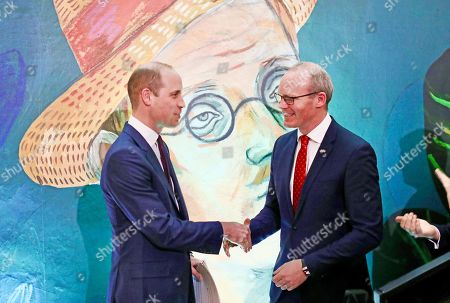 Prince William and Tánaiste Simon Coveney at an event at the Museum of Literature during the Royal visit