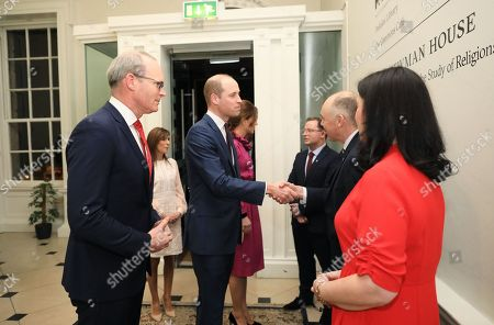 Tánaiste Simon Coveney and Prince William at an event at the Museum of Literature during the Royal visit