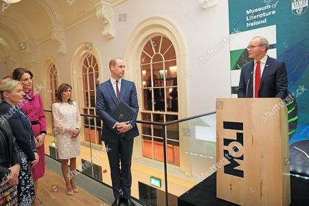 Tánaiste Simon Coveney at an event at the Museum of Literature during the Royal visit
