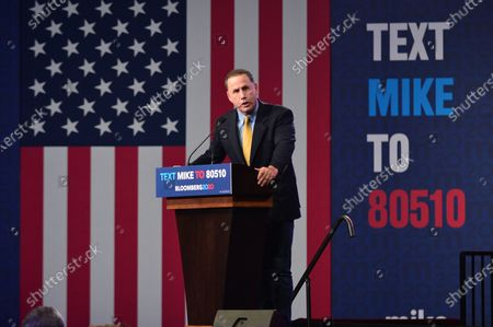 Stock Picture of Former Mayor of Miami Beach Philip Levine speaks during a rally for Democratic presidential candidate former New York City Mayor Mike Bloomberg duroing his Super Tuesday night event at Palm Beach Convention Center on March 03, 2020 in West Palm Beach, Florida. Voters cast their ballots in 14 states including American Samoa on what is known as Super Tuesday
