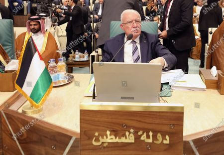 Palestinian Foreign Minister Riad Malki attends the Arab Foreign Ministers 153rd annual meeting at the Arab League headquarters in Cairo, Egypt, 04 March 2020. According to reports, the annual summit of Arab leaders that was scheduled for late March in Algeria was postponed over coronavirus concerns.