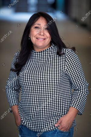 The first Saudi film maker Haifaa Al-Mansour poses for the media during th presentation of her thrid movie 'The Perfect Candidate' during an act held in Madrid, Spain on 04 March 2020.