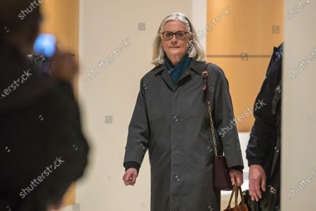 Former French Prime Minister Francois Fillon's wife Penelope arrives at the courthouse in Paris, France, 04 February 2020. The ex-prime minister is accused of employing his wife Penelope as a highly-paid aide for years despite the lack of evidence that she performed any legitimate work.