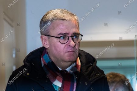 François Fillon's former substitute at the National Assembly, Marc Joulaud arrives at the courthouse in Paris, France, 04 February 2020. The ex-prime minister is accused of employing his wife Penelope as a highly-paid aide for years despite the lack of evidence that she performed any legitimate work.