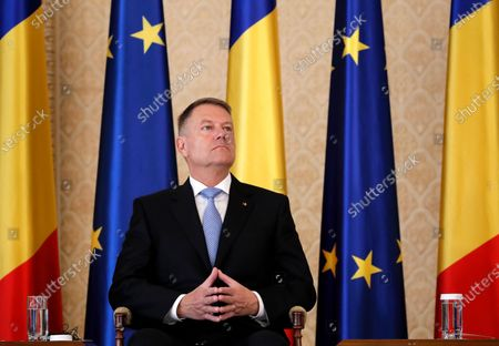 Romanian President Klaus Iohannis listen the speech of Prince Nikolaus of Liechtenstein (not pictured) before to receive the 'European Society Coudenhove-Kalergi 2020' prize during a ceremony held at Cotroceni Presidential Palace in Bucharest, Romania, 04 March 2020. The Coudenhove-Kalergi European Prize is awarded every two years to citizens of Europe for exceeding accomplishments in the European unification process and for promoting European values.