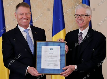 Editorial image of Europe Prize 2020 goes to Romania's President Klaus Iohannis, Bucharest - 04 Mar 2020