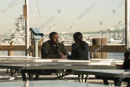 Ben Affleck as Jack Cunningham and Janina Gavankar as Angela