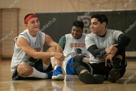 Will Ropp as Kenny Dawes, Charles Lott Jr as Chubbs and Fernando Luis Vega as Sam Garcia
