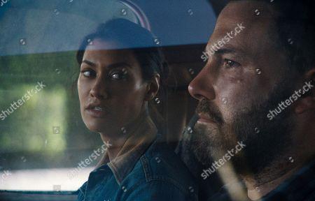 Janina Gavankar as Angela and Ben Affleck as Jack Cunningham