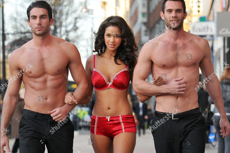Natalie Suliman with male models