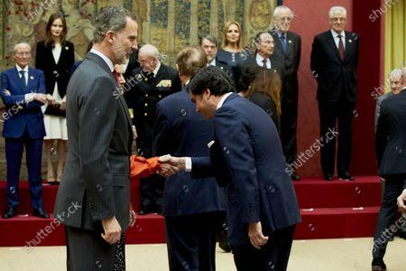 King Felipe VI and Eduardo Sanchez Junco