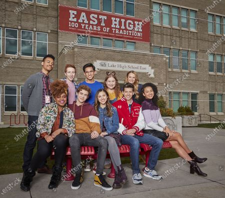 Back Row: Mark St. Cyr as Mr. Mazzara, Larry Saperstein as Big Red, Frankie A. Rodriguez as Carlos, Julia Lester as Ashlyn and Kate Reinders as Miss Jenn Front Row: Dara Renee as Kourtney, Joshua Bassett as Ricky, Olivia Rodrigo as Nini, Matt Cornett as E.J and Sofia Wylie as Gina