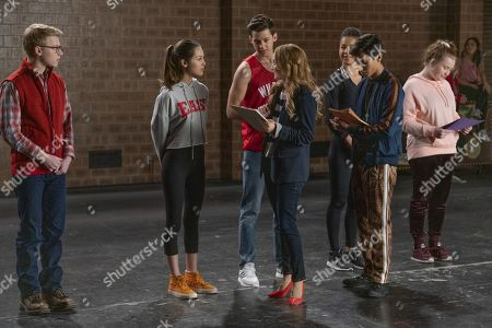 Joe Serafini as Seb, Olivia Rodrigo as Nini, Matt Cornett as E.J, Kate Reinders as Miss Jenn, Sofia Wylie as Gina, Frankie A. Rodriguez as Carlos and Julia Lester as Ashlyn