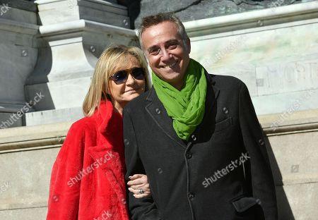 Nicoletta Strazzeri and Massimo Ghini