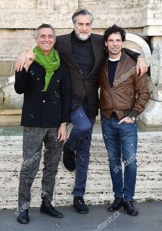 Massimo Ghini, Max Tortora and Francesco Montanari