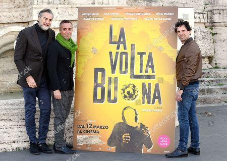Stock Picture of Massimo Ghini, Max Tortora and Francesco Montanari