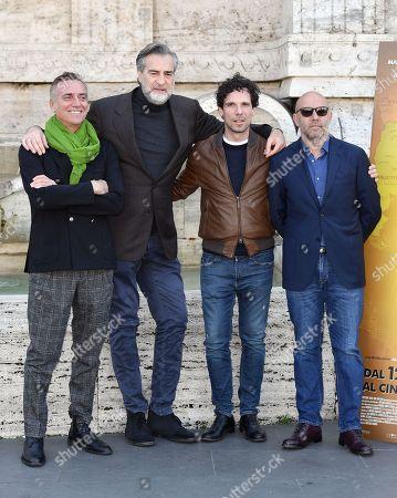 Stock Photo of Vincenzo Marra, Massimo Ghini, Max Tortora and Francesco Montanari