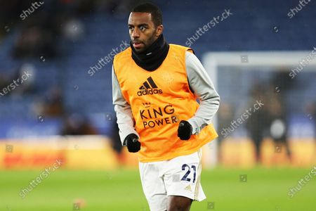 Leicester City defender Ricardo Pereira warms up ahead of the The FA Cup match between Leicester City and Birmingham City at the King Power Stadium, Leicester