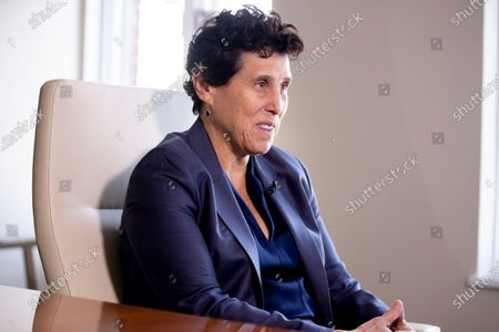 Attorney Debra Katz participates in an interview for a news media organization, at her office in Washington, DC, USA, 28 February 2020 (issued 29 February 2020). Katz represents parties that allege Placido Domingo committed sexual misconduct.