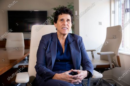 Attorney Debra Katz participates in an interview for a news media organization, at her office in Washington, DC, USA, 28 February 2020 (issued 05 March 2020). Katz represents parties that allege Placido Domingo committed sexual misconduct.