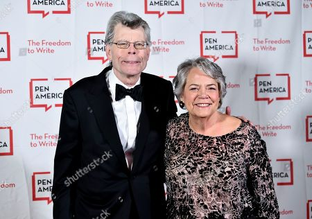 """Stephen King, Carolyn Reidy. PEN literary service award recipient Stephen King poses with Simon & Schuster president Carolyn Reidy at the 2018 PEN Literary Gala at the American Museum of Natural History on in New York. ViacomCBS, fresh off a merger, is looking to sell its Simon & Schuster book publishing business as it tries to raise cash to pay down debt and please shareholders with dividends and stock buybacks. ViacomCBS CEO Bob Bakish said the book publisher is not a """"core asset"""" of the company since it isn't video. But he said it's a """"marquee asset"""" that is """"highly valuable"""