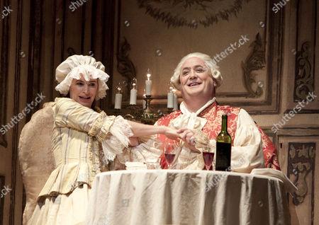 Sophie Koch (Octavian disguised as 'Mariandel'), Peter Rose (Baron Ochs auf Lerchenau)