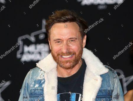 David Guetta, Jessica Ledon. ARCHIVO ? En esta fotografía de archivo del 4 de noviembre de 2017 el DJ y productor de música electrónica David Guetta llega la ceremonia de los premios NRJ Music en Cannes, Francia