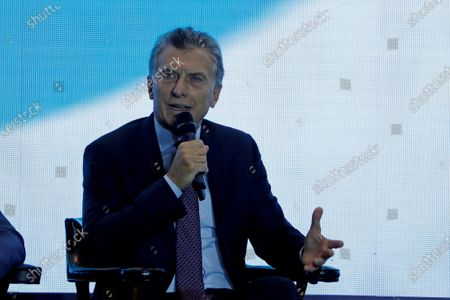 Mauricio Macri former president of Argentina (2015-2019) speaks during a conversation in the framework of the Citizen Meeting of the Freedom and Development Foundation in a hotel in the City of Guatemala, Guatemala, 04 March 2020. The meeting brought together several former presidents and leaders of the region to talk about regional integration.