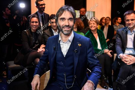 Cedric Villani poses before taking part in a debate gathering seven out of eight candidates running for Paris' city mayor broadcasted by French news TV channel LCI in Boulogne-Billancourt, near Paris, France, 04 March 2020, less than two weeks ahead of the election's first round.