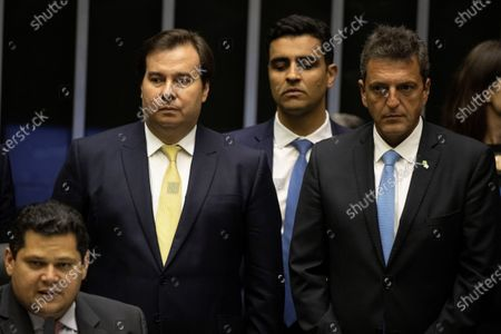 Editorial photo of Head of the Argentine Congress visit to the Brazilian National Congress building, Brasilia, Brazil - 04 Mar 2020
