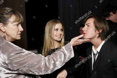 Stock Image of Carolynne Cunninghamm, Rose McIver and Andrew James Allen