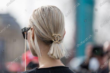 Stock Image of Linda Tol, jewellery detail
