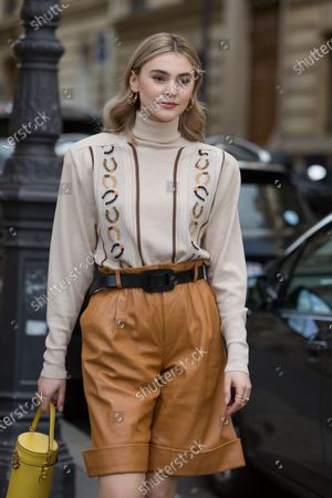 Editorial image of Street Style, Fall Winter 2020, Paris Fashion Week, France - 03 Mar 2020