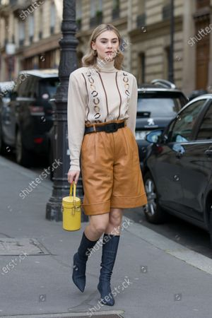 Editorial photo of Street Style, Fall Winter 2020, Paris Fashion Week, France - 03 Mar 2020