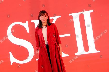 Editorial picture of Simone Biles x Sk-Ii Times Square Takeover, New York, USA - 03 Mar 2020