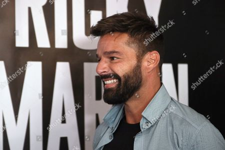 Ricky Martin arrives at the Enrique Iglesias and Ricky Martin Press Conference at The London West Hollywood Hotel, in West Hollywood, Calif