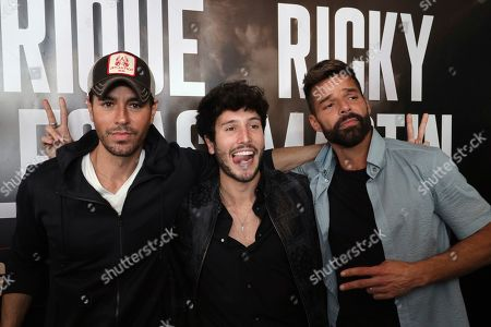 Enrique Iglesias, Sebastian Yatra, Ricky Martin. Enrique Iglesias, from left, Sebastián Yatra and Ricky Martin attend the Enrique Iglesias and Ricky Martin Press Conference at The London West Hollywood Hotel, in West Hollywood, Calif